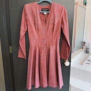 VINTAGE Western Attitude by Lilia Pink Dress